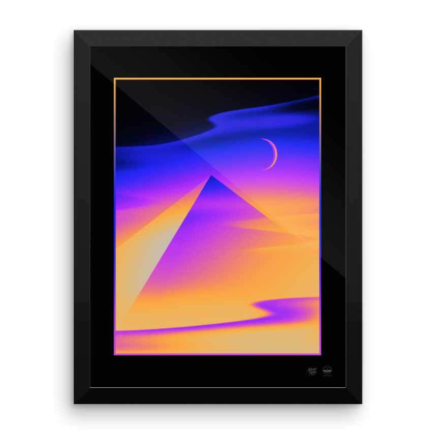 """Pyramid Dreams"" Art Print by Victor Moatti"