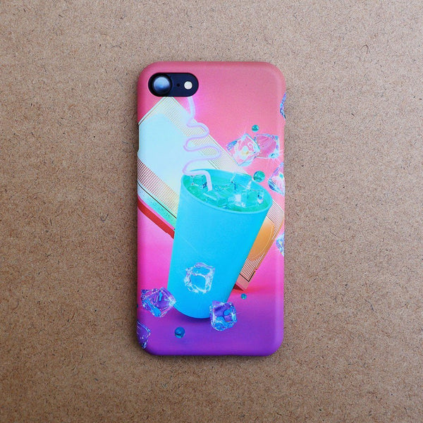 """Soft Drink with VHS"" Phone Case by Pastelae"