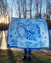 "Load image into Gallery viewer, ""Botanic Tiger"" Pure Wool Blanket by Asis Percales"