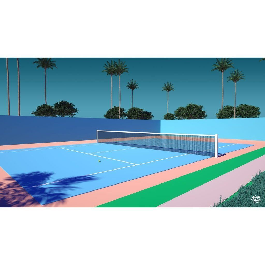 """TENNIS TIME"" UNISEX t-shirt BY TREY TRIMBLE"