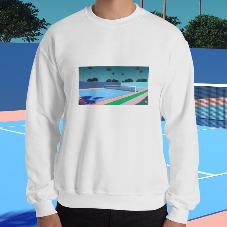 """Tennis Time"" Unisex Sweatshirt by Trey Trimble"
