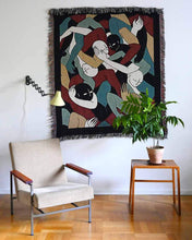 "Load image into Gallery viewer, ""Jungle"" Woven Art Blanket by Lena Mačka"