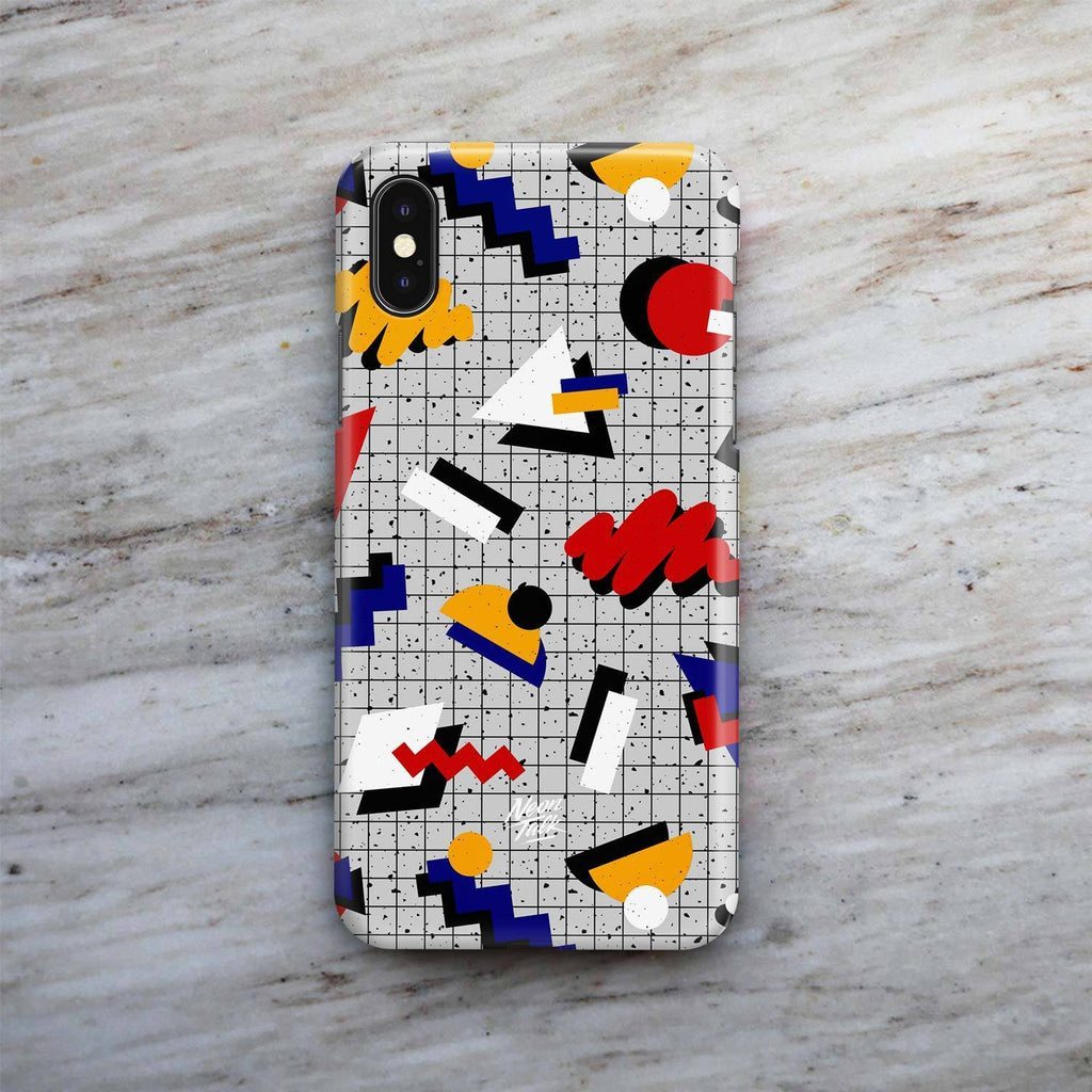 """Memphis Pop"" Gray Phone Case by Hanna Kastl-Lungberg"