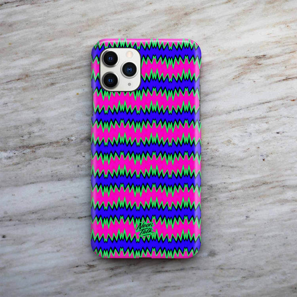 Zig Zag Neon Phone Case by Freshcolor
