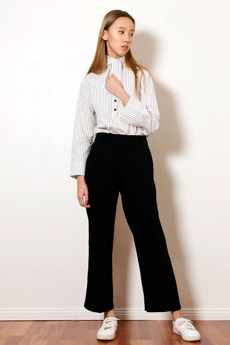 Black Wide Hem Pants