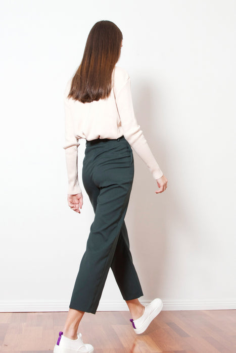 Peacock Green Cropped Pants
