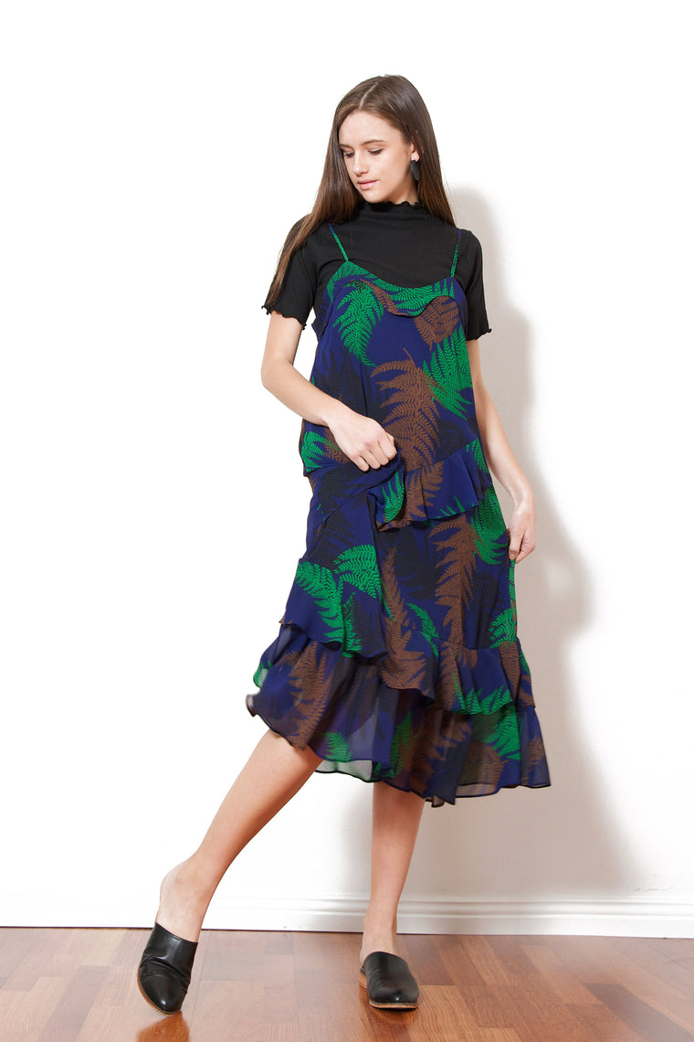 Leafy Cancan Dress