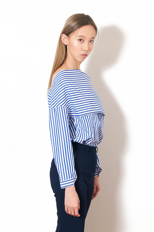 Square Neck Stripe Shirt