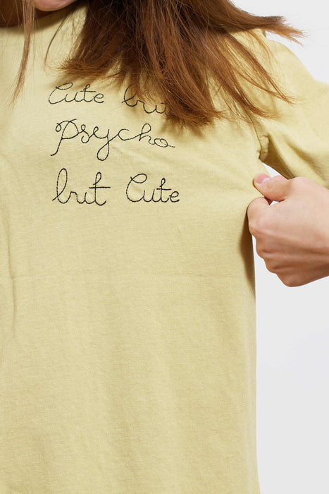 Cute But Psycho T-Shirt (Olive)
