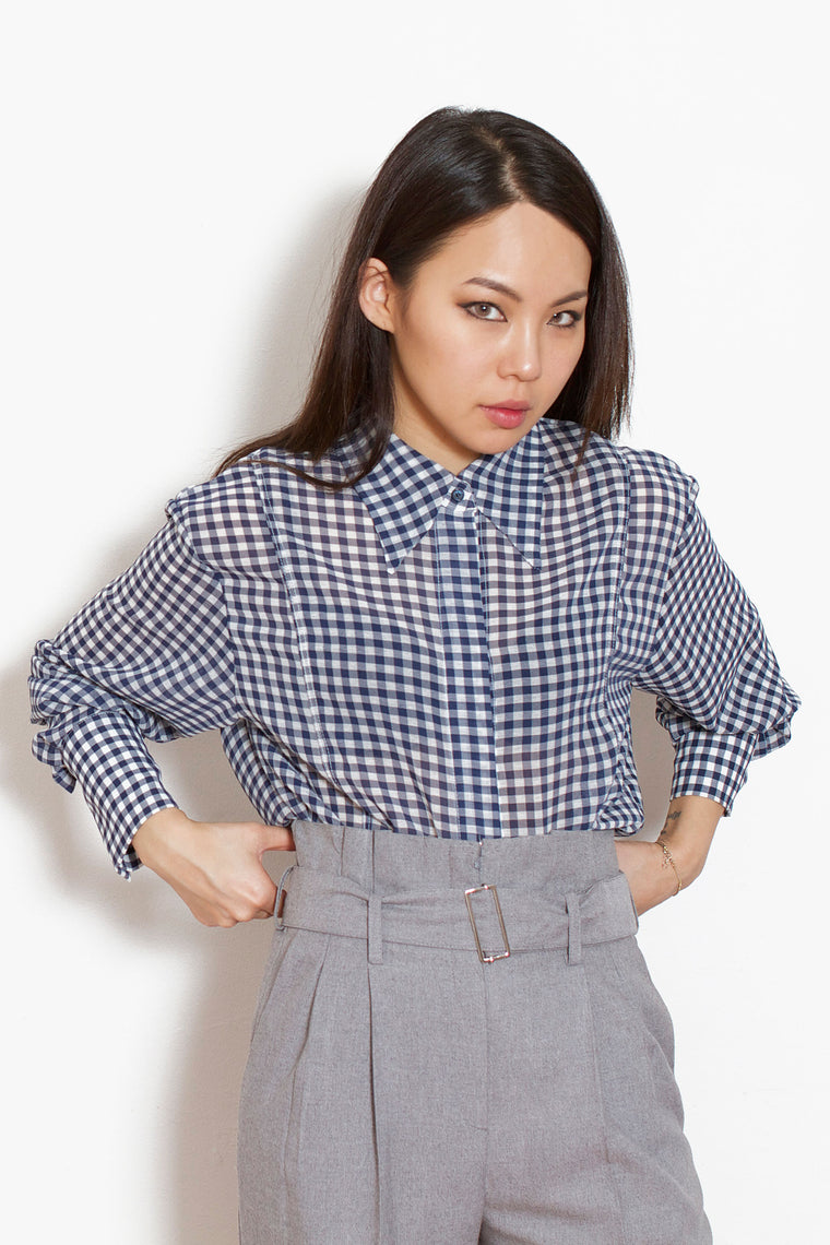 Navy Check Shirt