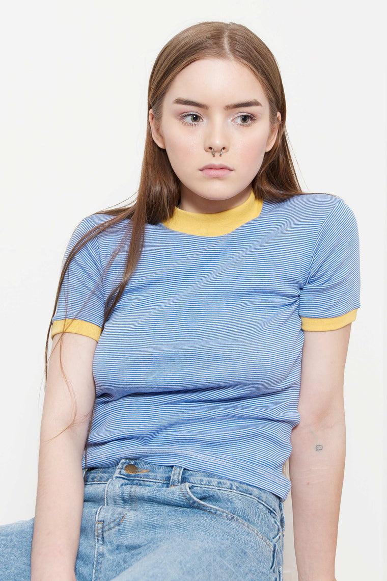 Stripe T-Shirt (Yellow/Blue)