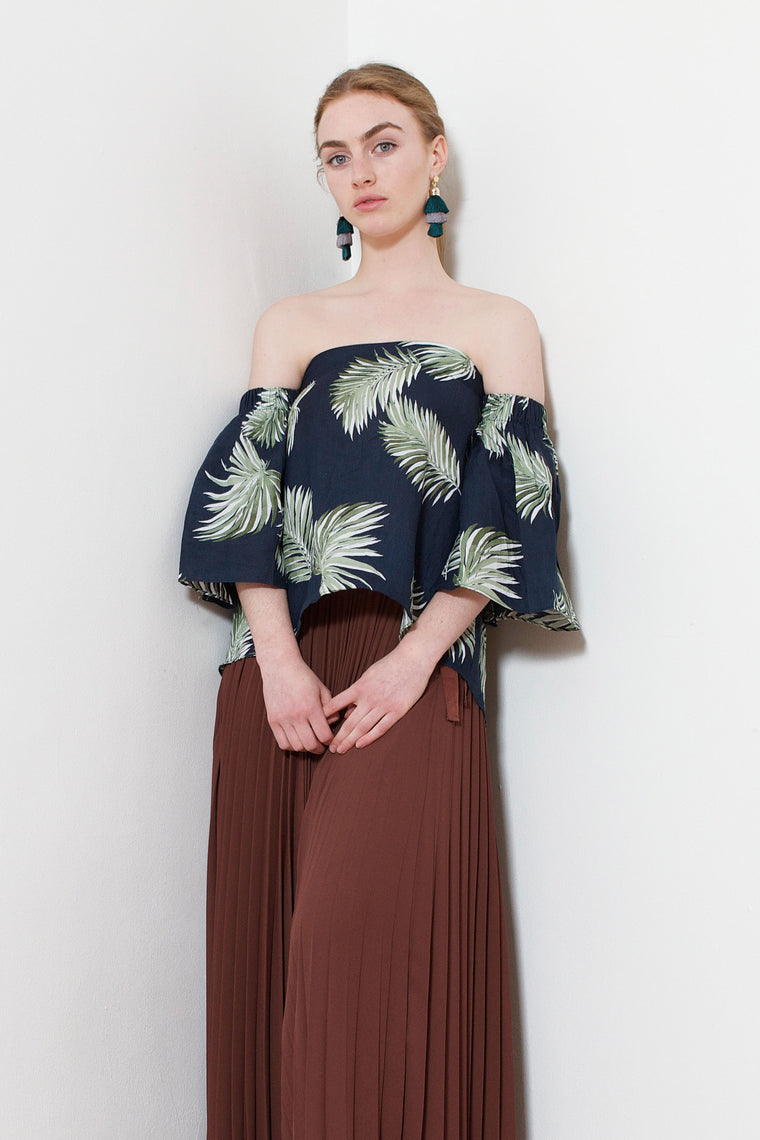 Pineapple Off-Shoulder Blouse