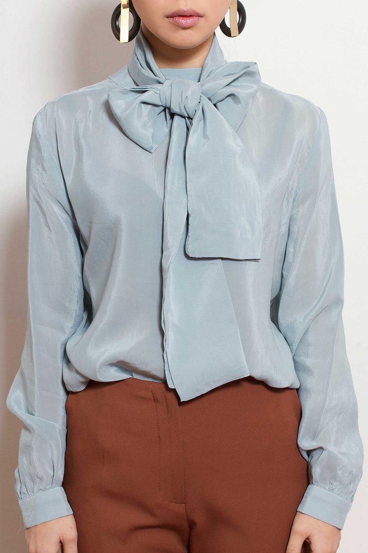 Mint Pearl Button Blouse