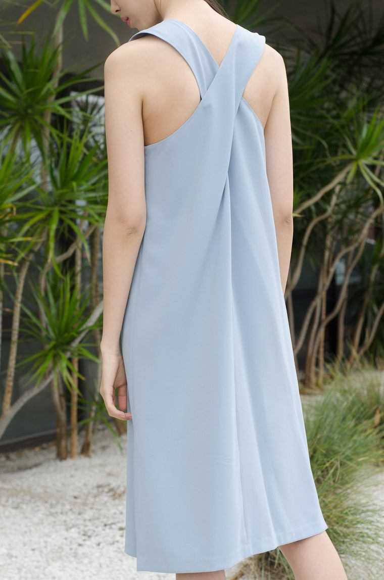 Aquamarine Back-Cross Dress