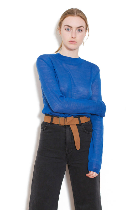 Basic Light Knit Top (Blue)