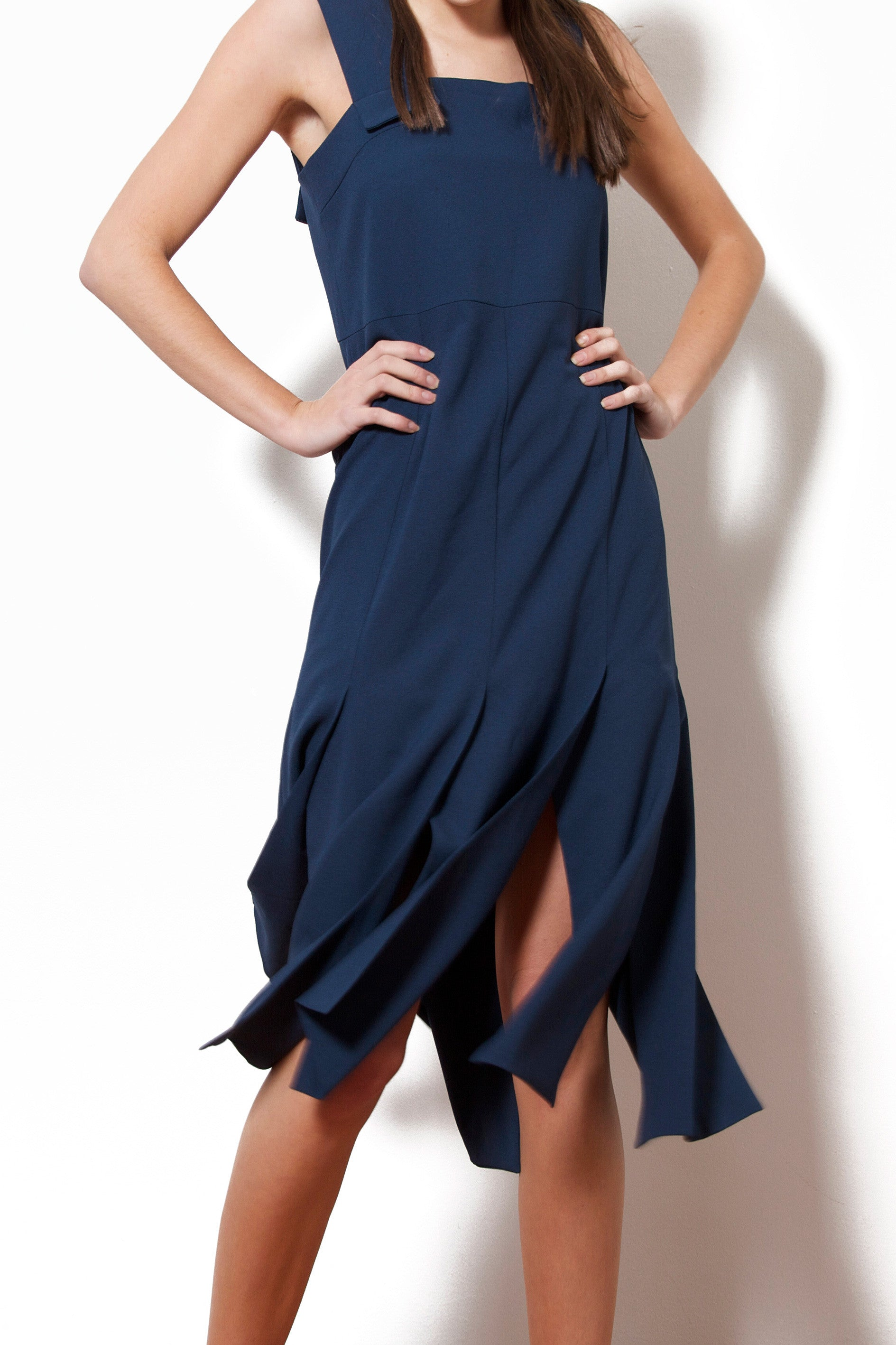 Fringed Dress (Navy)