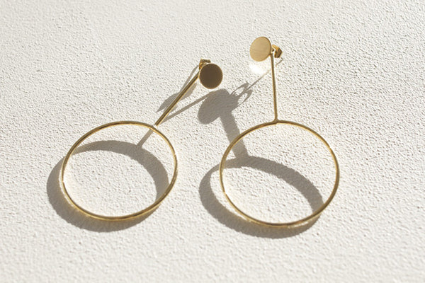 Gold Eclipse Earrings