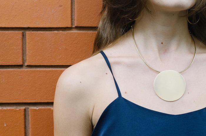Gold Full Moon Necklace