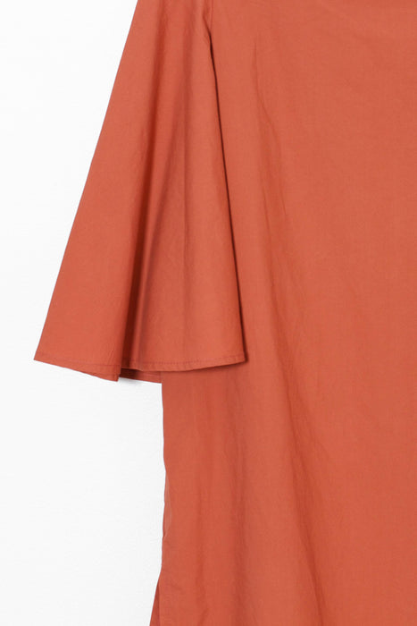 Flare Off-Shoulder Blouse (Orange)