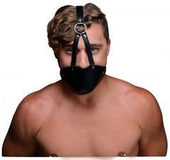 Muzzle Leather Harness with Ball Gag - Diddleworld.com - 1