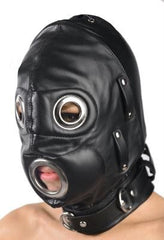 Total Lockdown Leather Hood - Small/Medium - Diddleworld
