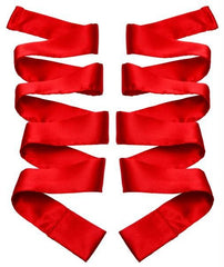 Scarlet Red Satin Sash Set - Diddleworld