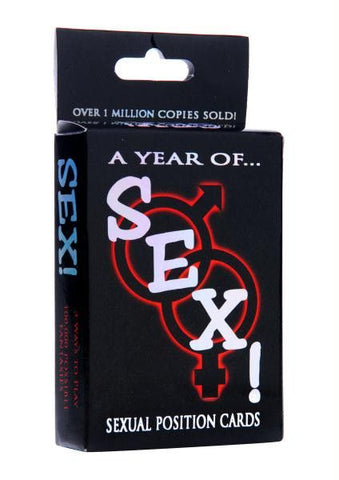A Year of Sex! Sexual Position Card Game - Diddleworld