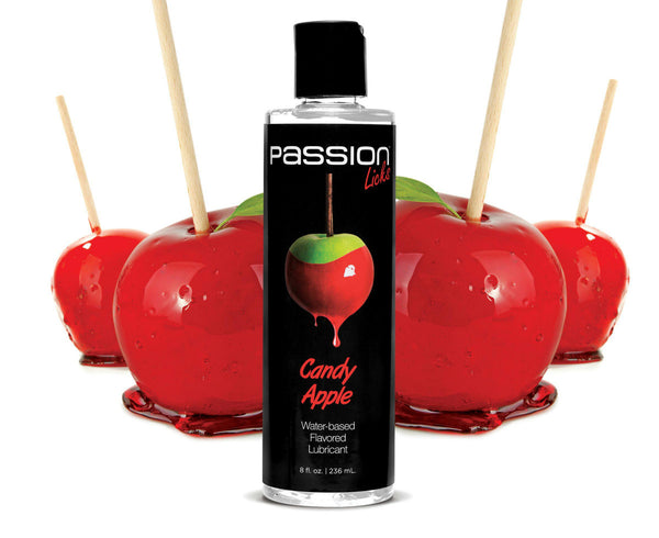 Passion Licks Candy Apple Water Based Flavored Lubricant - 8 oz
