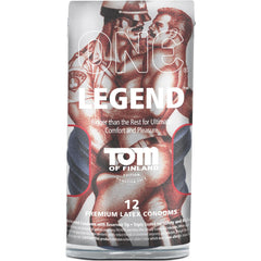 Tom of Finland Legend XL Condom 12 Pack (7.9 inch, Easy Rolling) - Clear - Diddleworld.com - 1