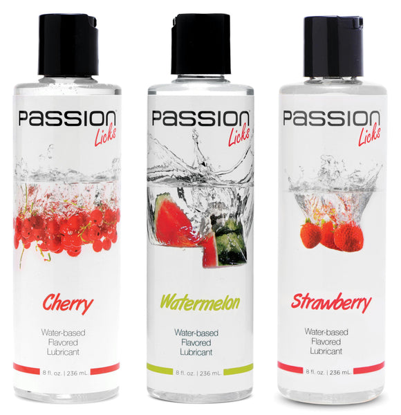 Passion Licks 3 Flavor Kit (cherry, strawberry, and watermelon)