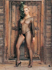 Lycra Ringo Hole Long Sleeves Bodystocking - Diddleworld.com