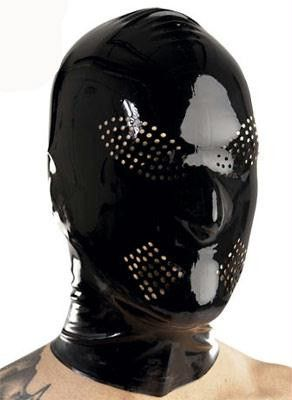 Latex Hood w/ Perforated Eyes and Mouth - Diddleworld