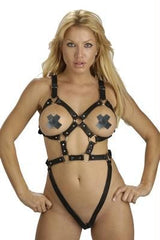 Women's Leather Body Harness - Large - Diddleworld