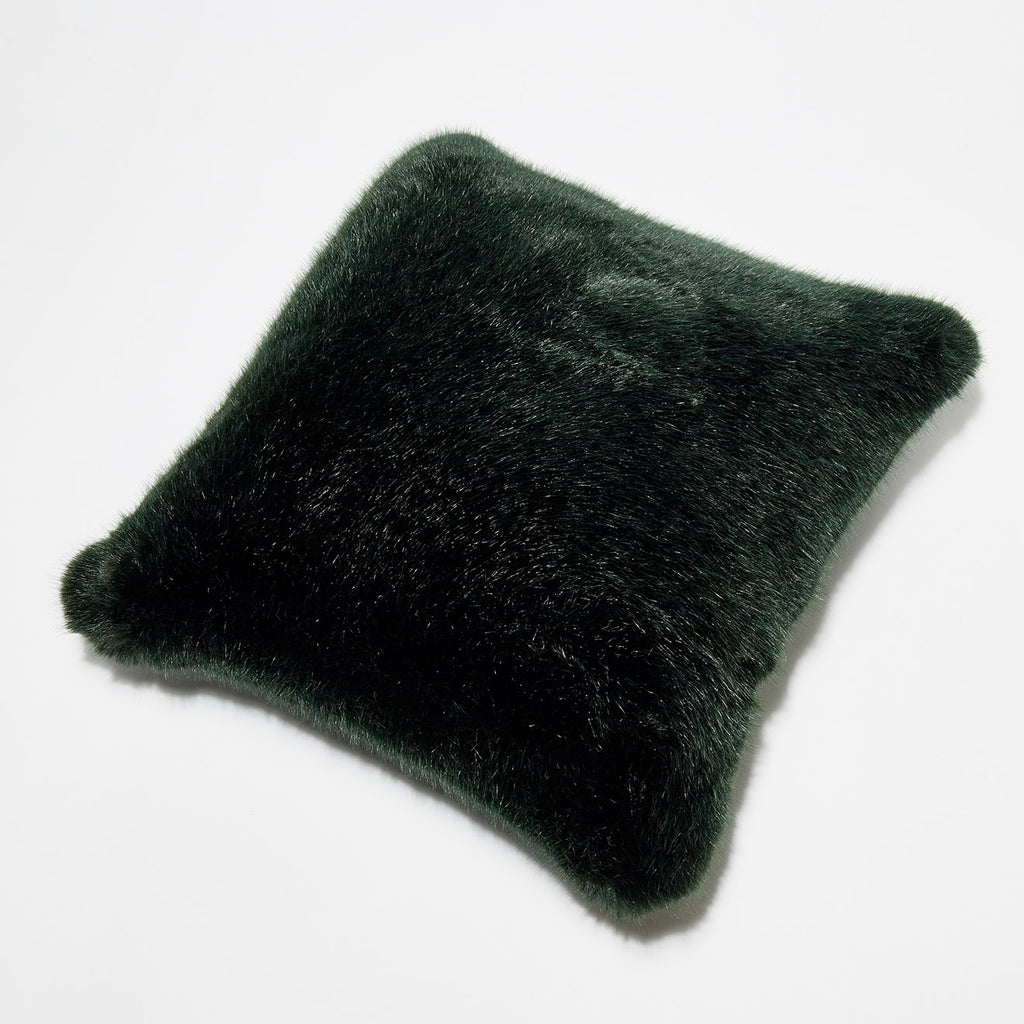 AVOCADO PILLOW - Dark Green faux fur