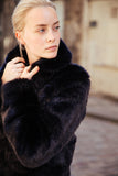 ERELLE - Black Faux Fur jacket