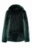 ANNA - Dark Green Faux Fur Coat