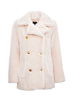 BRIGITTE - Powder Pink Faux Fur Jacket