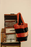 CABAS - Black & Orange Faux Fur Bag