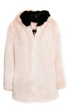 CATHERINE - Pink Faux Fur coat