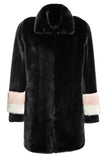 CARENE - Black Faux Fur coat