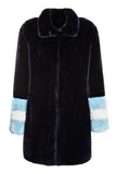 CARENE - Midnight Blue Faux Fur coat