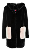 MIRA - Black Faux Fur coat