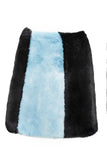 ALYA - Black Blue Heaven Faux Fur Skirt
