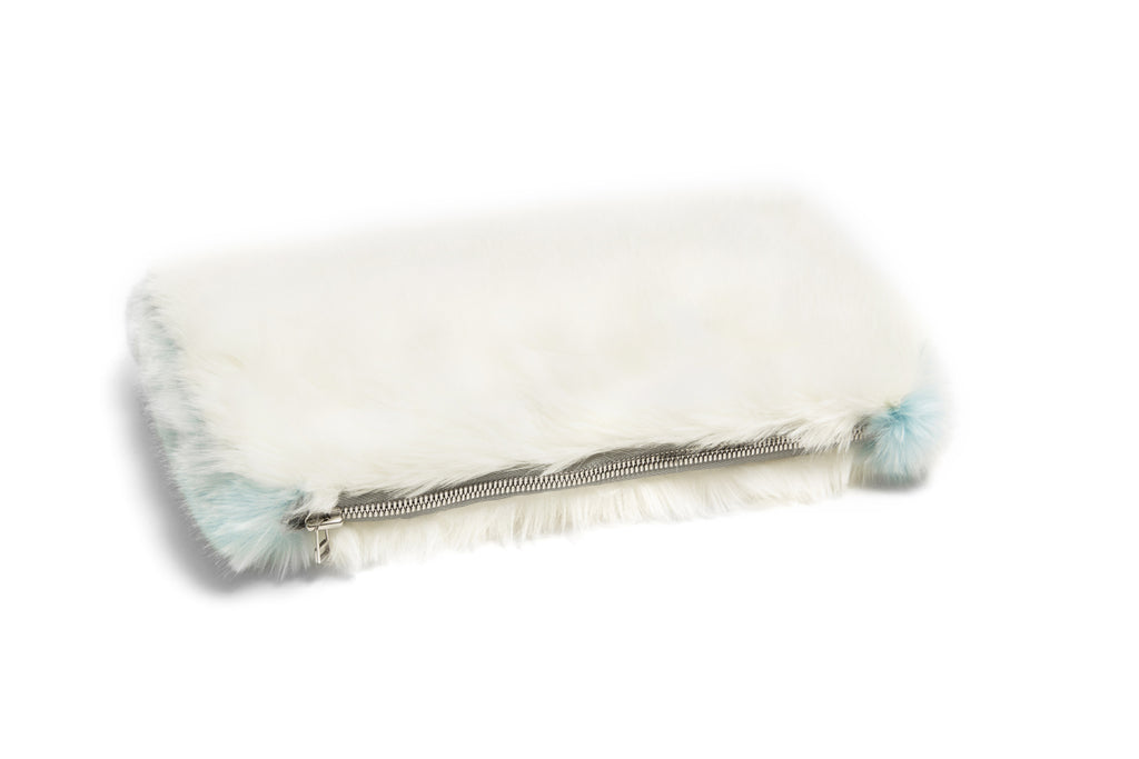 CELINE - Snow White Faux Fur Clutch