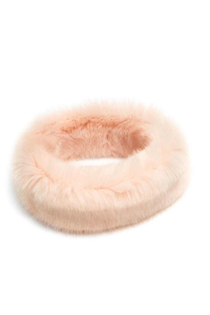 CLAVA - Powder Pink Faux Fur Headband