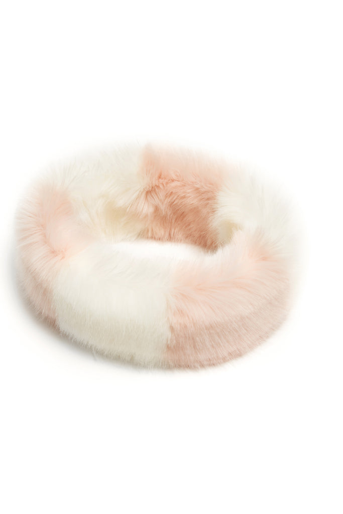 CLAVA - Twister Pink Faux Fur Headband