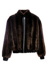 NINA - Brown Mink Faux Fur Vest