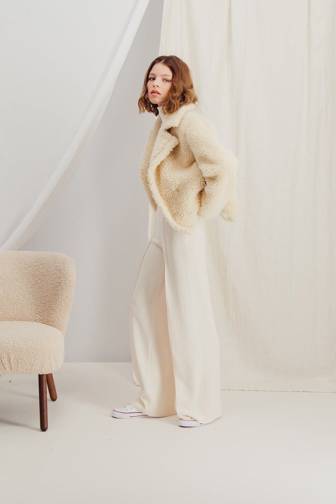 CLAIRE - Sustainable faux fur jacket
