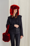RAPHAEL - Red Faux Fur Chapka