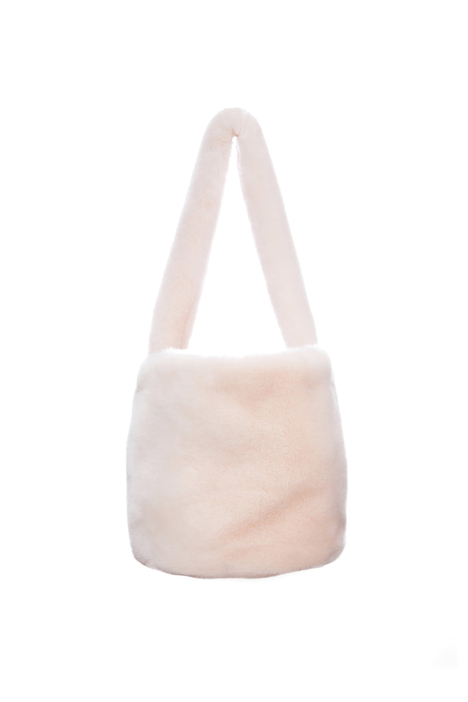 BIRKIN - Pink Faux Fur Bucket Bag